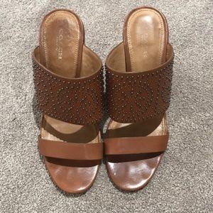 Coach Saddle Studded Sandals